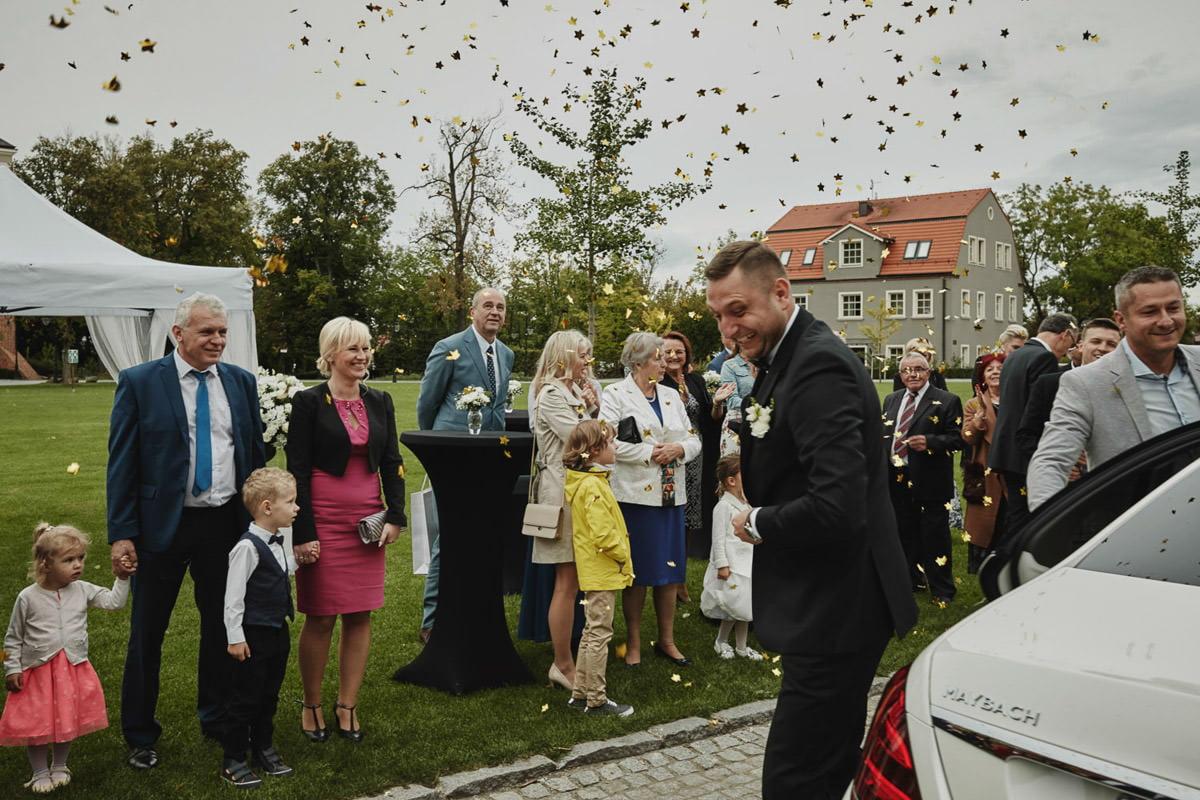 wesele glamour zamek Topacz - fotograf ślubny Wrocław