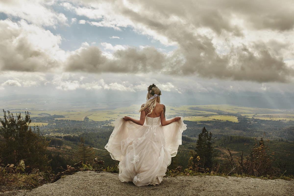 plener ślubny w Tatrach - fotografia ślubna Panna Młoda