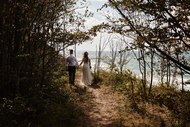 plener ślubny na klifie