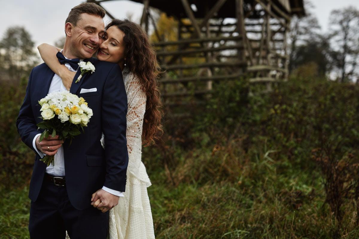 zdjęcia ślubne Wolin, sesja rustykalna
