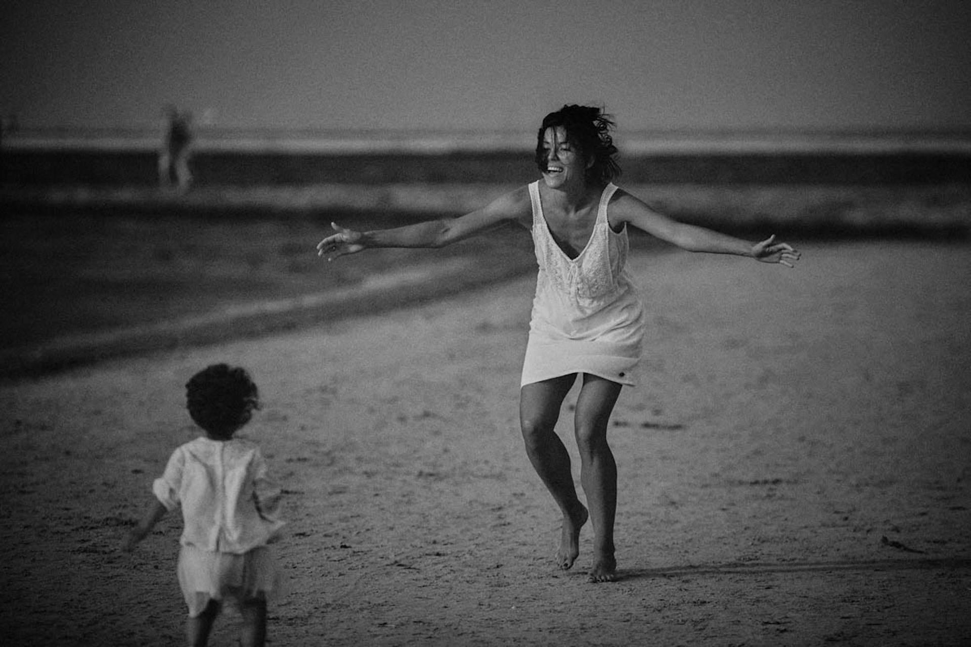 sesja rodzinna lifestyle na plaży