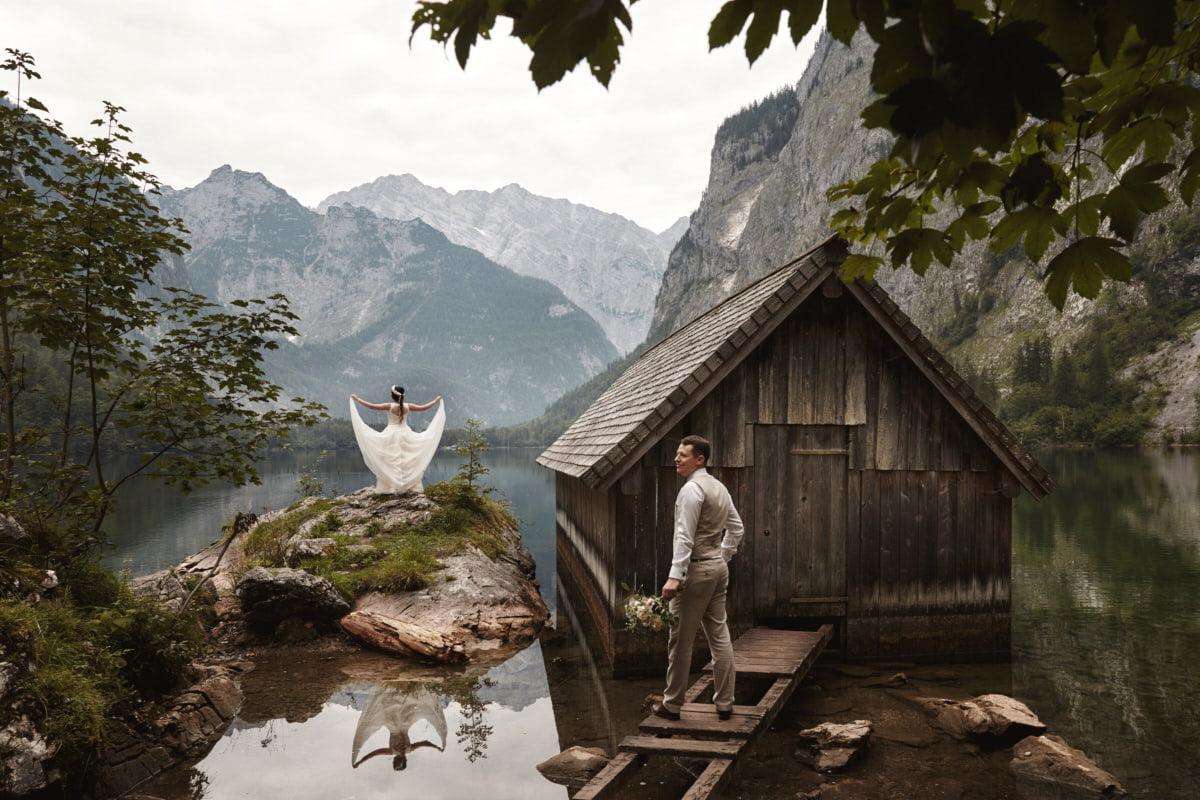 sesja plenerowa w Alpach - fotografia ślubna