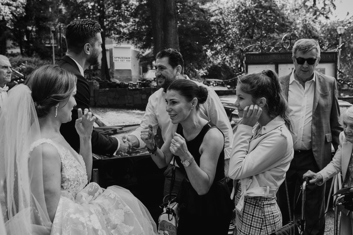 życzenia na ślubie - zdjęćia ślubne Szczecin