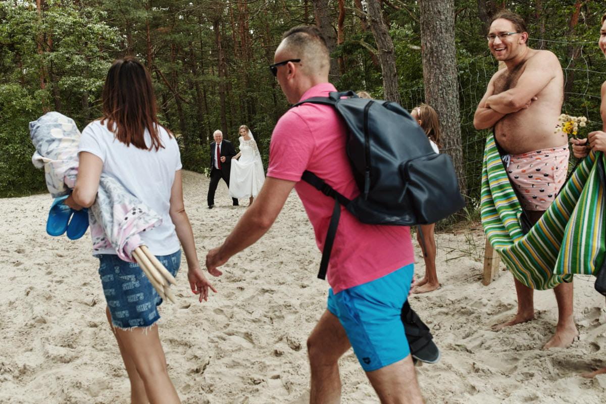 ślub na plaży - fotograf Pogorzelica