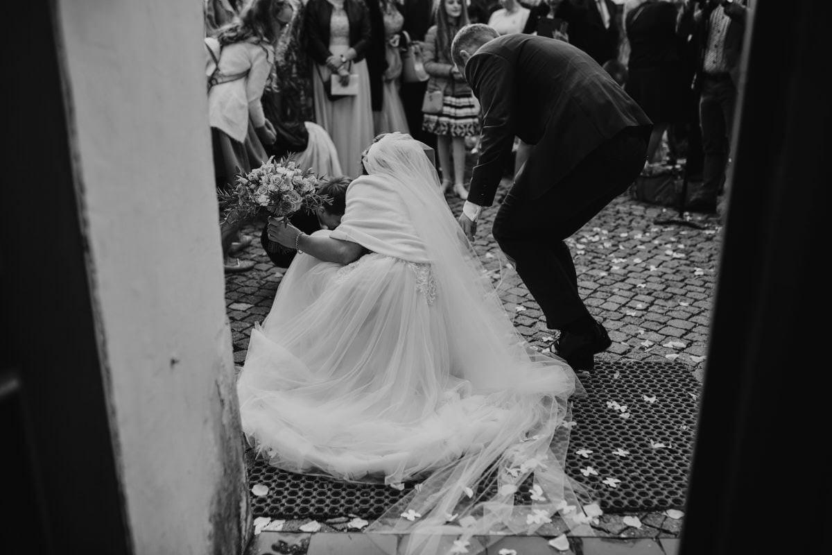 suknia ślubna, welon, Państwo Młodzi