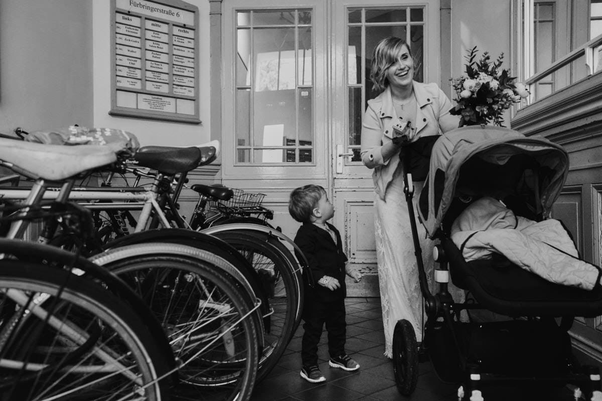 dziecko Pary Młodej - wiązanka ślubna