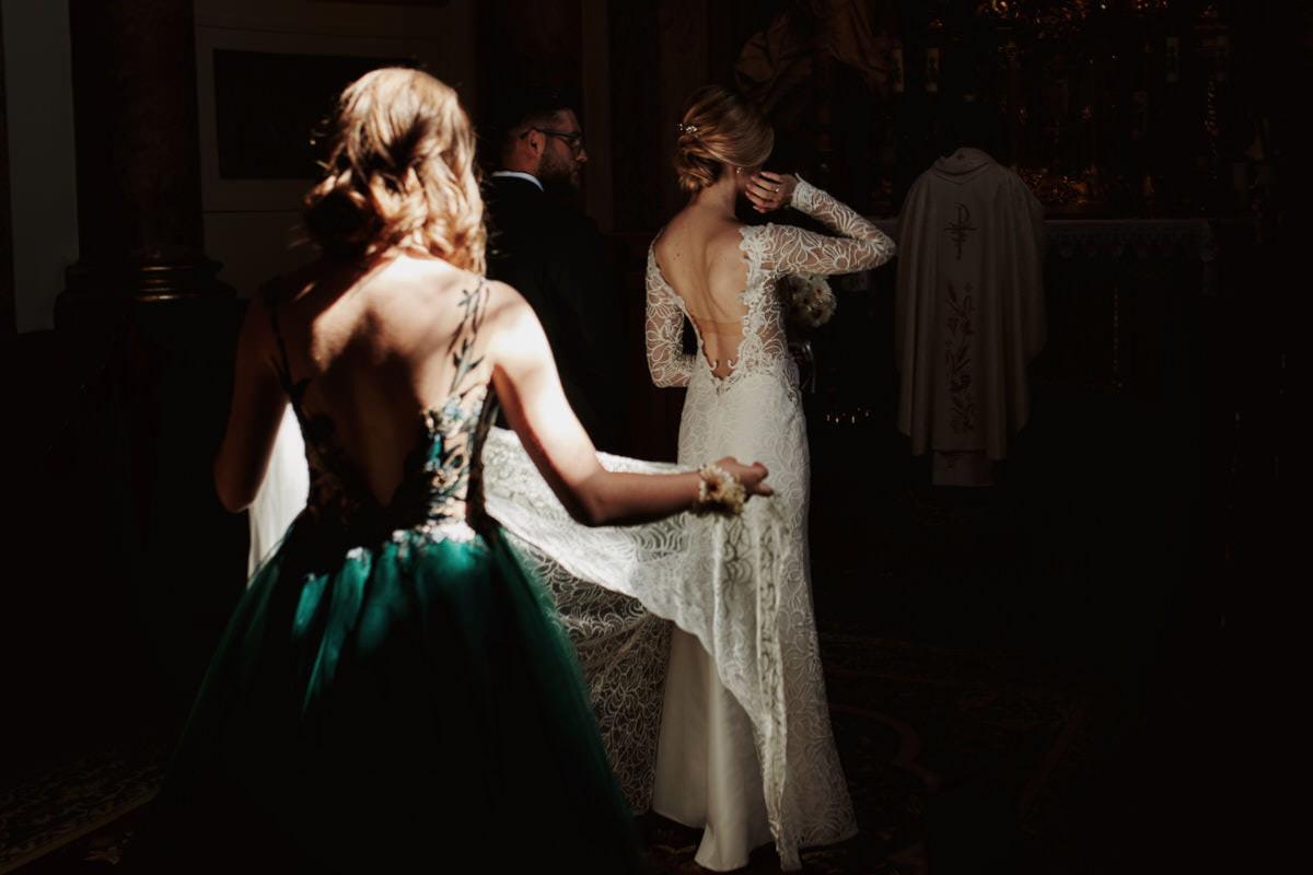 Piękna suknia ślubna - fotograf Szczecin