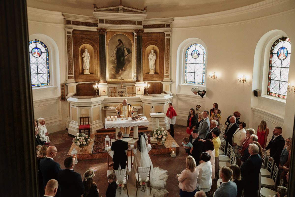 ceremonia ślubna widok z góry