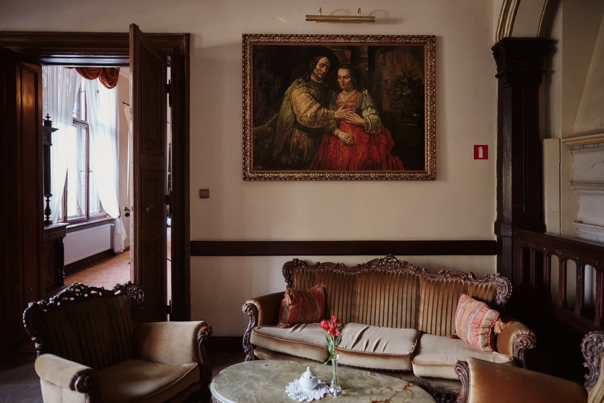wnętrza pałacu Wąsowo