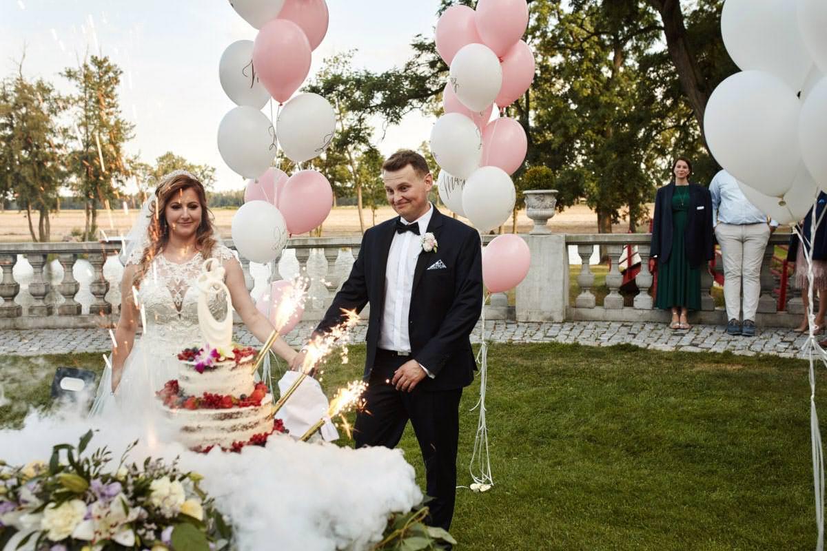 przyjęcie weselne w Zamku Gutów
