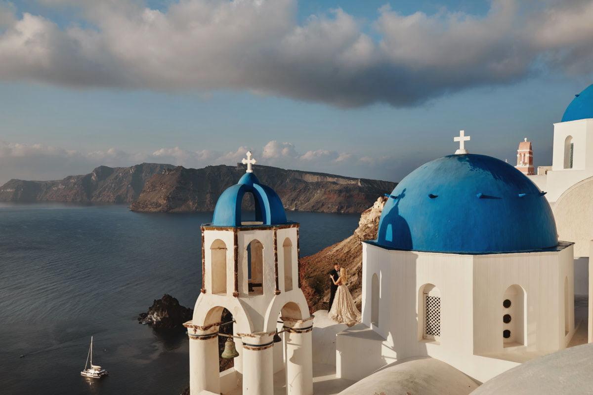 Santorini sesja na wyspie