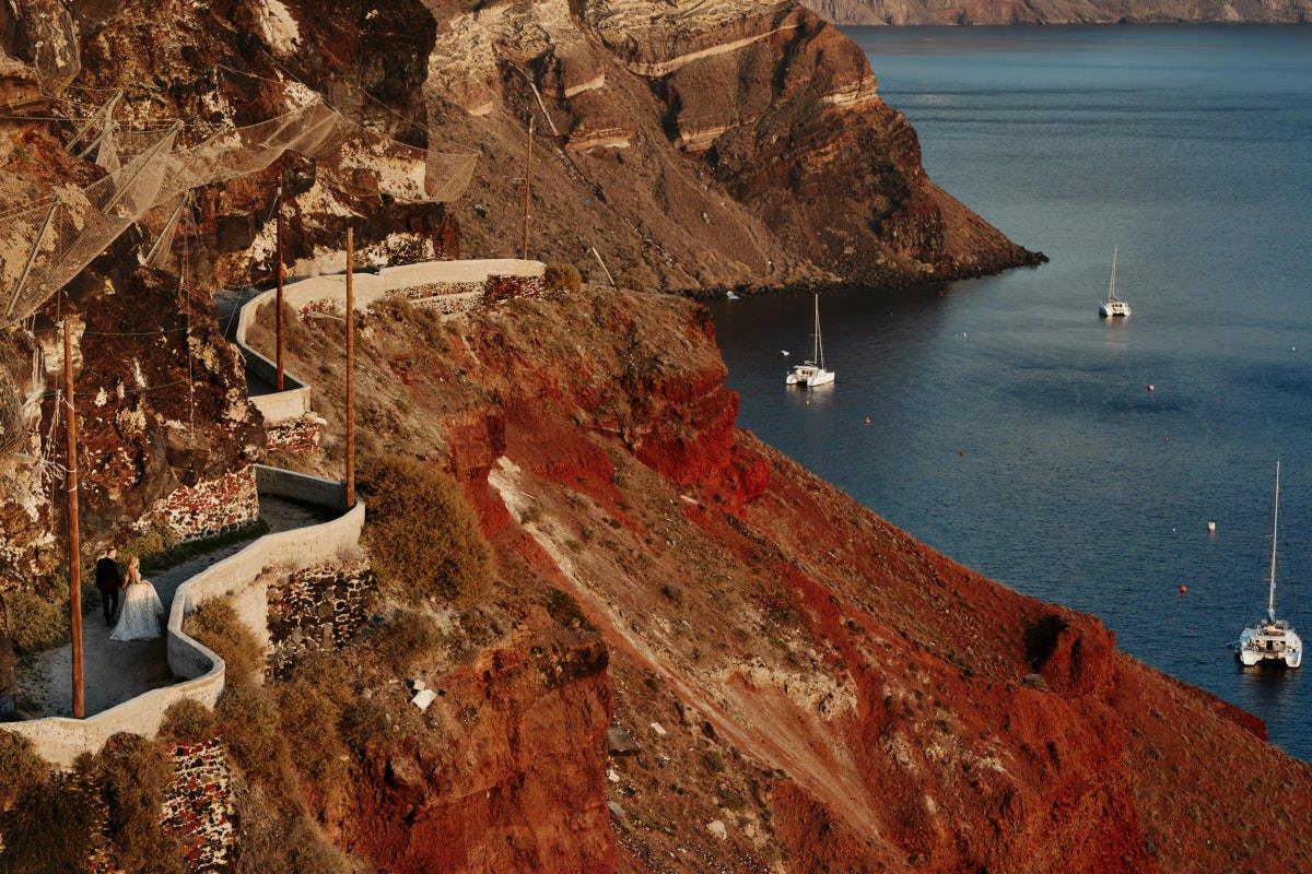 wzgórza Santorini