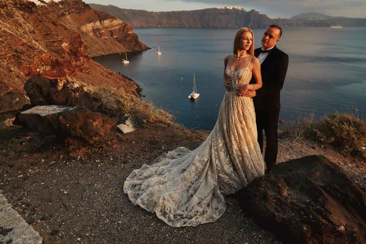 Plener ślubny Santorini