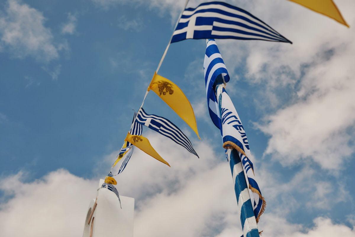 flagi na wietrze