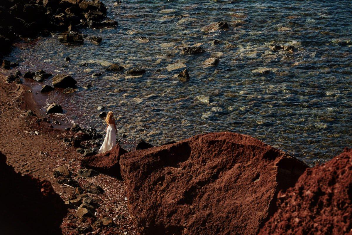 sesja ślubna za granicą na Santorini