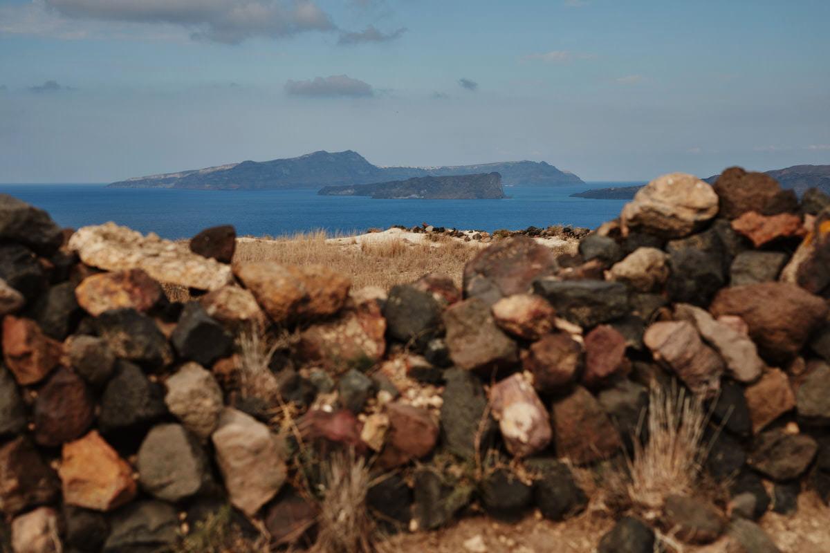 Santorini krajobraz wysp