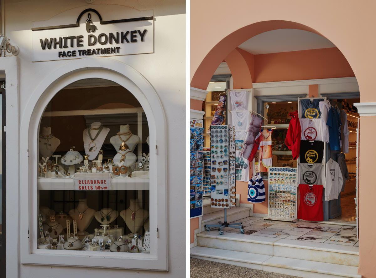 butiki na Santorini