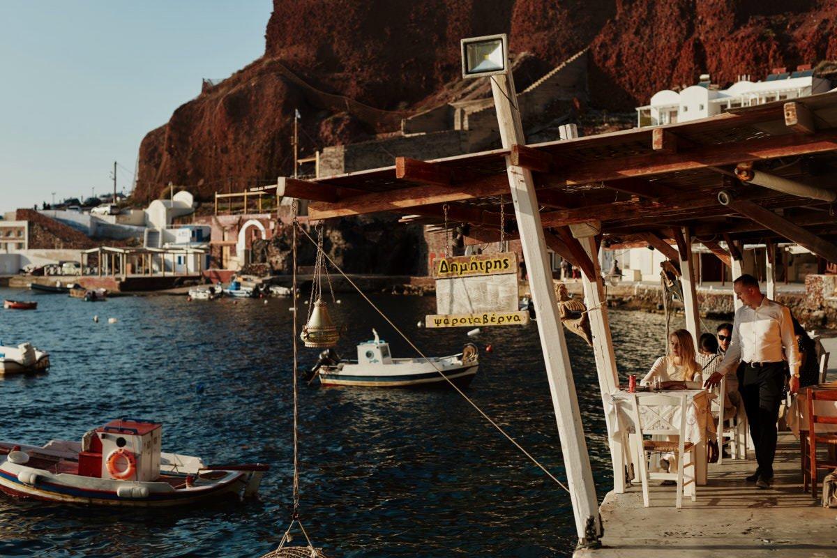 Zatoka na Santorini