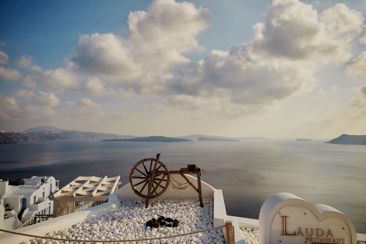 Santorini, widok na morze