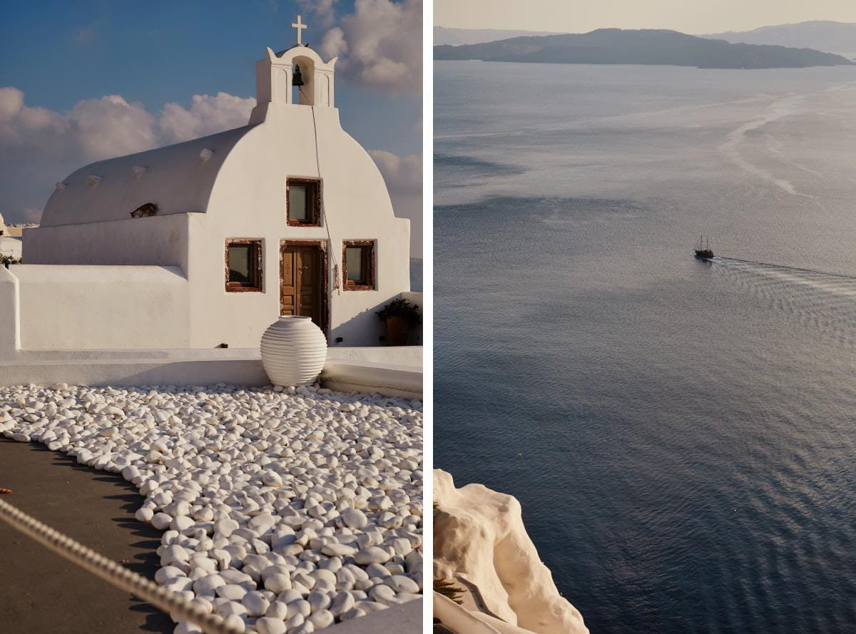 budynki na Santorini