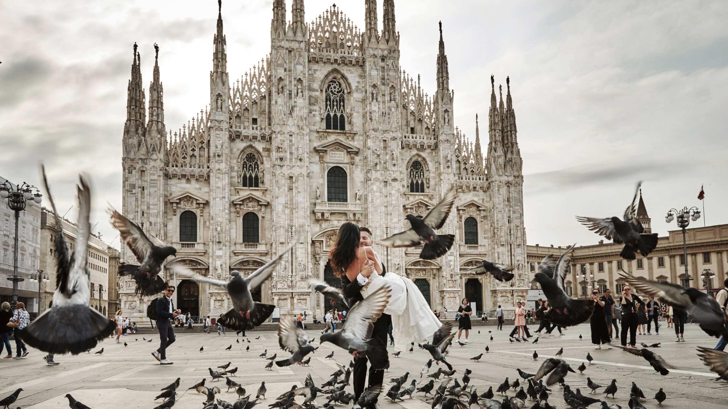 Sesja ślubna we Włoszech - Mediolan 1