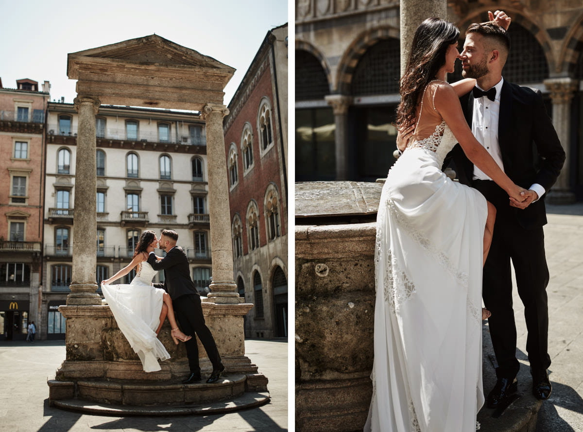 Mediolan - pocałunek po włosku