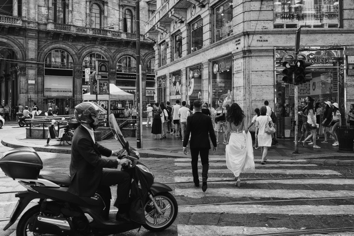 Mediolan - na włoskiej ulicy