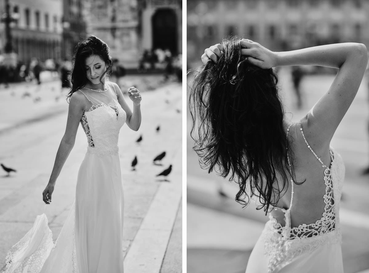 Mediolan - tańcząca Panna Młoda