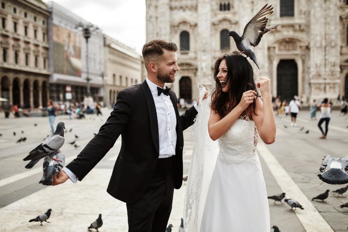 Mediolan - Włoska sesja ślubna