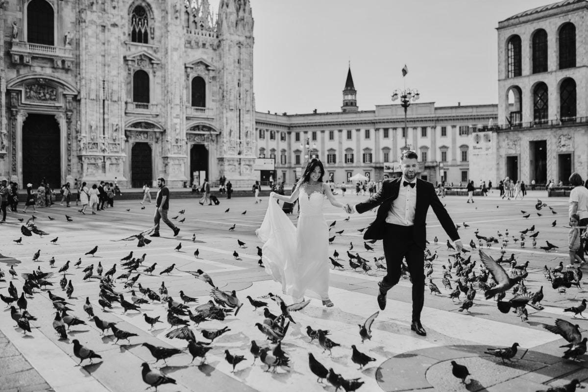 sesja na placu Duomo