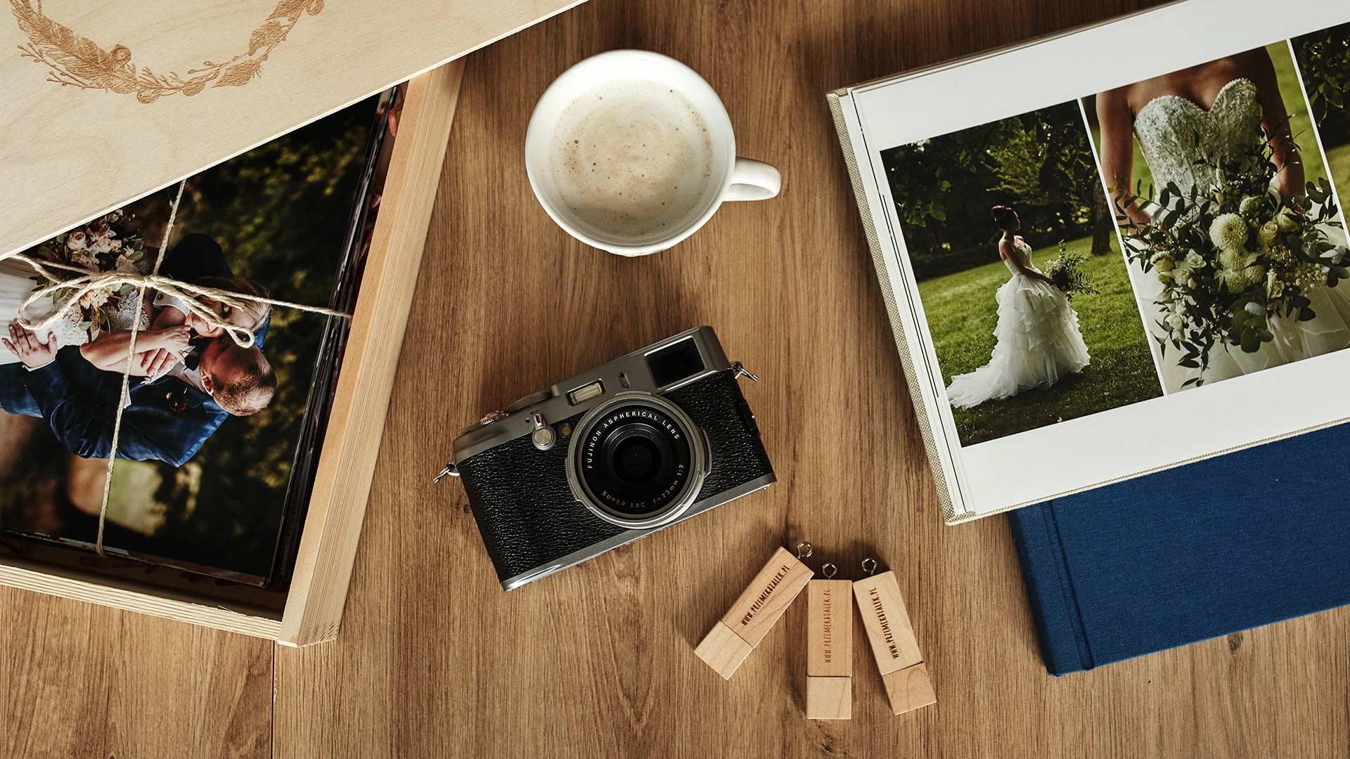 akcesoria fotgraficzne, albumy ślubne i odbitki